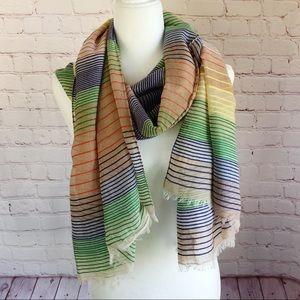[GAP] multi color stripe lightweight fashion scarf
